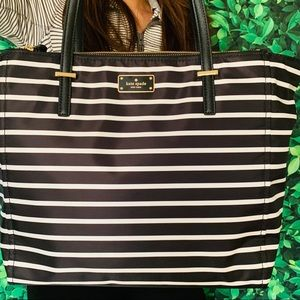KATE SPADE TALYA WILSON ROAD FRENCH STRIPE BLACK